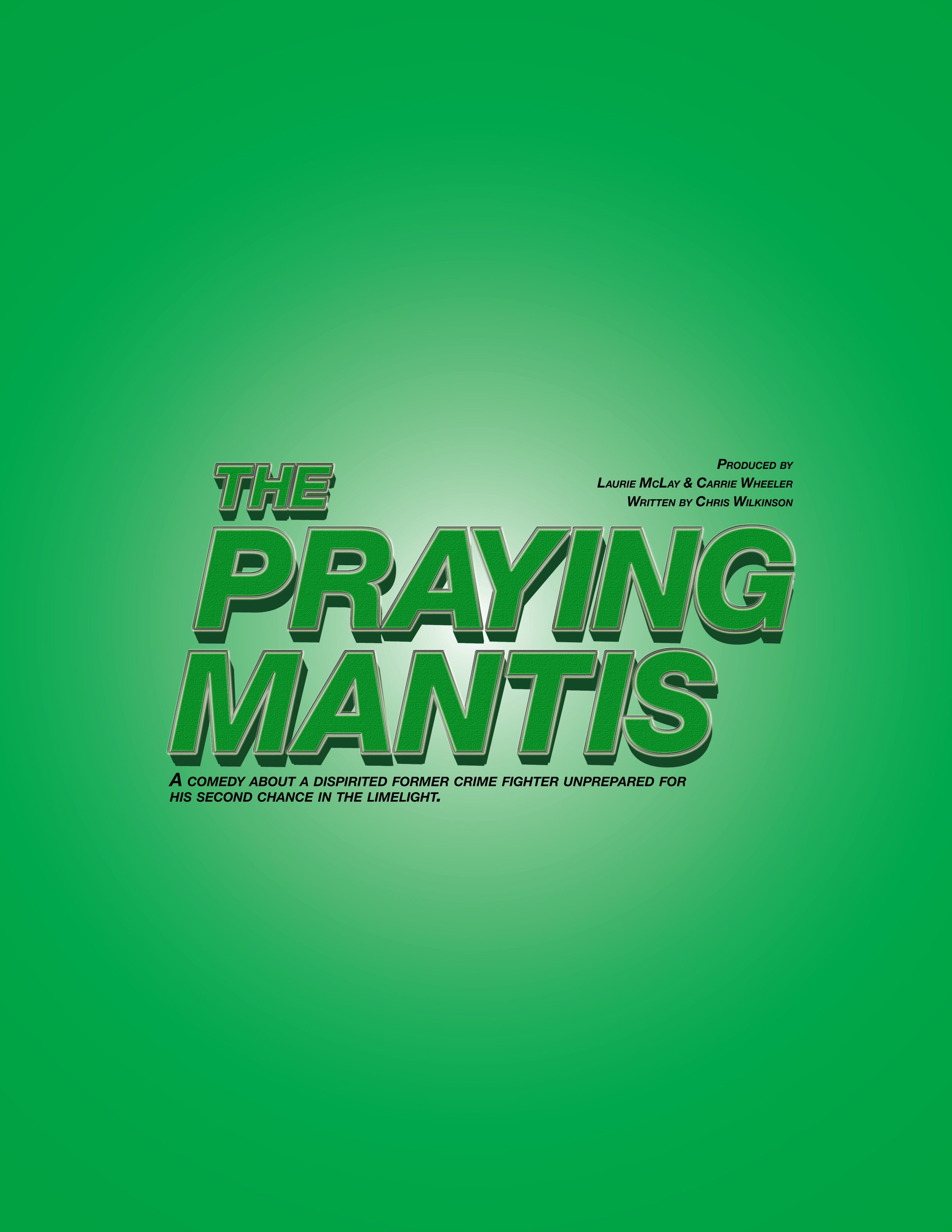 Praying Mantis One-Sheet Front Page